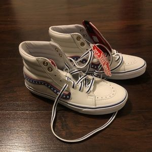 Vans Sk8 Hi Mens 5.5 White Leather US Evil Knievel